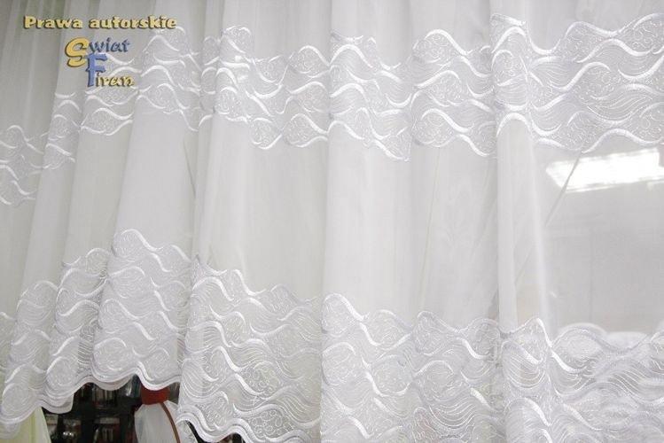 Markizeta 14617 Dwa Szlaki Białykrem 280 Cm Firany